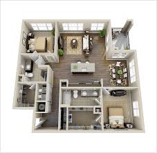 floor plans with in suite 10 awesome two bedroom apartment 3d floor plans architecture