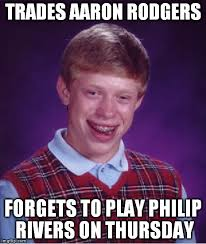 Philip Rivers Meme - bad luck brian meme imgflip