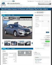 2013 subaru impreza real dealer prices free costhelper com
