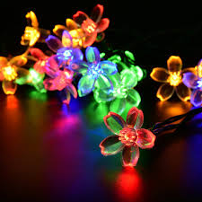 Outdoor Christmas Lights Amazon by Amazon Com Lightsetc 15 7 Feet 20 Led Multi Color Solar Blossom