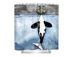 Vintage Nautical Shower Curtain Nautical Curtains Etsy