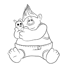 dreamworks trolls coloring pages getcoloringpages