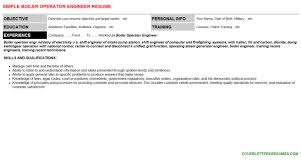 boiler operator engineer cover letter u0026 resume