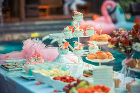 party table colorful colourful cupcakes decoration decorations dessert table
