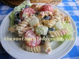 ranch pasta salad the southern lady cooks