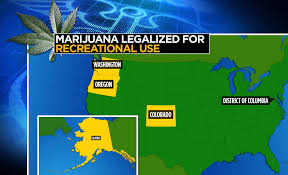 Recreational Marijuana Map Use Of Recreational Marijuana Is Legal In Two Us States Ejournalz