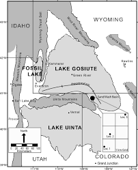 Western Colorado Map by Giant Stromatolites Of The Eocene Green River Formation Colorado