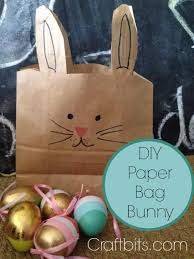 paper bag easter bunny kids crafts craftbits com