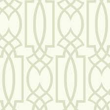 large lattice wallpaper in silver and white design by carey lind