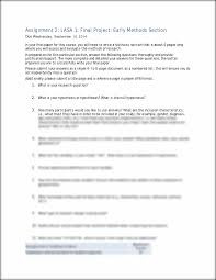 Sample Evaluation Essay Paper Assignment 2 Assignment 2 Lasa 1 Final Project Early Methods