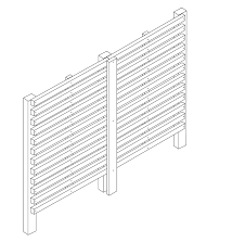 blog constructing a slatted screen fence