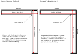 Window Blind Stop - the most wa blinds for corner window prepare how to measure single