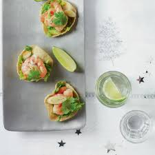 mini canape mini prawn poppadoms delicious magazine