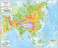 Physical Features Of Europe Map by Children U0027s Physical Map Of Asia 12 99 Cosmographics Ltd