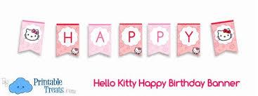 hello kitty happy birthday banner u2014 printable treats within hello