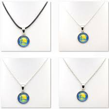 gifts for basketball fans necklaces pendants golden state warriors charms women necklace