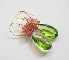 peridot earrings gemstone peridot dangle earrings peridot earrings cluster