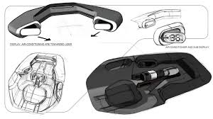porsche mission e sketch porsche mission e interior sketch by felix godard car interior