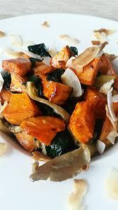 cuisiner patate douce poele poêlée d épinard de pleurotes et patate douce au curry station
