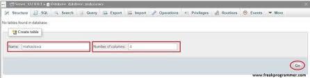 cara membuat database baru mysql cara membuat database mysql dengan xampp phpmyadmin freak programmer