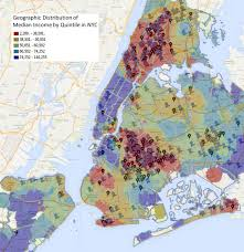 A Map Of New York City by Map Shows Correlation Of Shootings And Low Income Neighborhoods