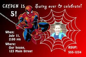 free spiderman birthday invitations templates u2014 invitations ideas