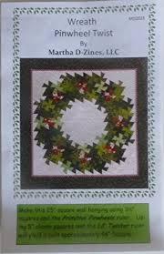 wreath pinwheel twist pattern in two sizes using two