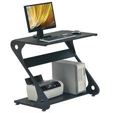 petit bureau noir petit bureau informatique design en bois et métal couleur noir
