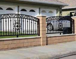 pergola fence decorative iron fencing beautiful home design