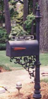 cast iron mailbox posts made by tuscumbia iron works
