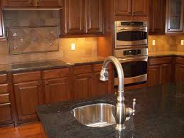 kitchen backsplash tile with white cabinets wooden laminated