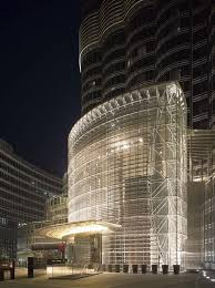 buttressed core structural system for burj khalifa openbuildings