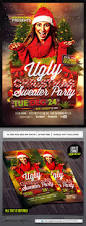 ugly christmas sweater party flyer template party flyer flyer
