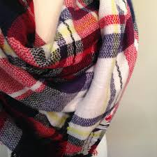 red white and blue blanket scarf by from knit pop shop fall