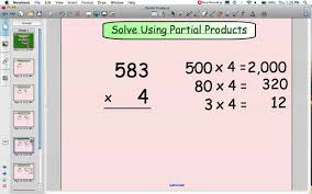 Partial Sums Worksheets Partial Products Multiplication Youtube