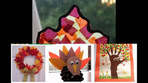 easy fall craft decorations ideas for preschoolers youtube
