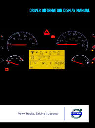 volvo driver information display manual transmission mechanics