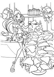 print winx flora coloring pages free winx flora pictures