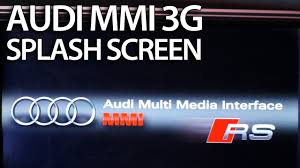 how to change splash screen audi mmi 3g a1 a4 a5 a6 a7 a8 q3 q5