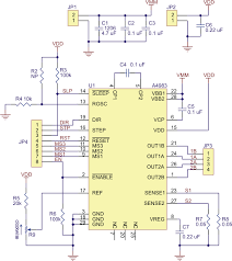 pololu schematic diagram of the md09b a4983 stepper motor driver