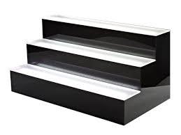 3 tier led bar shelf display liquorshelves com