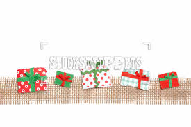 stocksnippets image 10101713 row of gifts on jute border