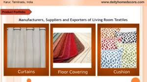 cotton home decor suppliers in karur tamil nadu video dailymotion