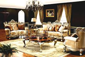 Traditional Furniture Styles Living Room The Caesar Formal Living Room Collection In Antique Silver