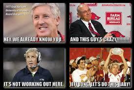 Steve Spurrier Memes - pete caroll for arkansas head coach meme exists is stupid