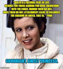 Princess Leia Meme - goodnight sweet princess imgflip