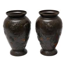 urns for sale pair of japanese mixed metal and bronze urns for sale at 1stdibs