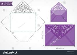 Invitation Card Standard Size Die Cut Envelope Template Vector Standard Stock Vector 345806012