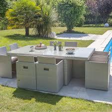 wc de jardin salon de jardin encastrable résine tressée gris 1 table 8