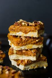raw thanksgiving recipes raw pumpkin pie bars dishing out health